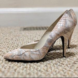 EUC Pink Vintage Martinez Valero Snakeskin Heels